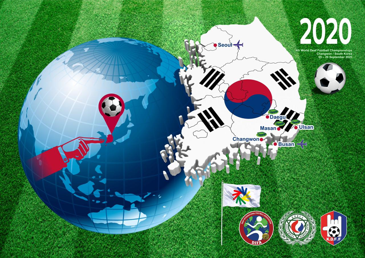 The 4th World Deaf Football Championships will be held in Republic Korea!